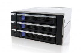 "DataCage Classic MB453IPF-B 3x3.5"" in 2x5.25"" SAS/SATA HDD Cage"