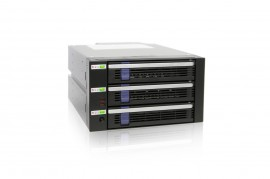 "DataCage Classic MB453SPF-B 3x3.5"" in 2x5.25"" Hot Swap HDD Cage"